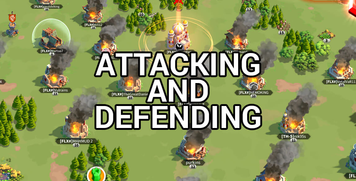attacking defending