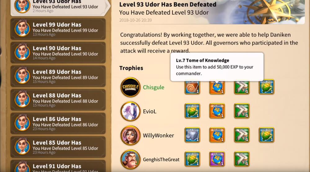 helping attack udor rewards