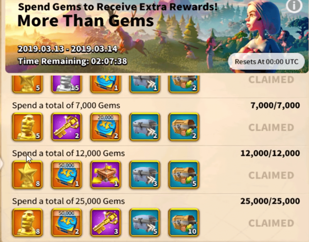 more than gems reward