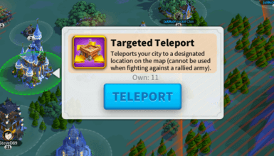 teleport in rise of kingdoms