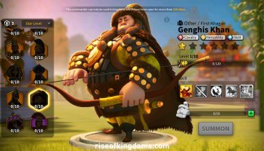 genghis khan rise of kingdoms