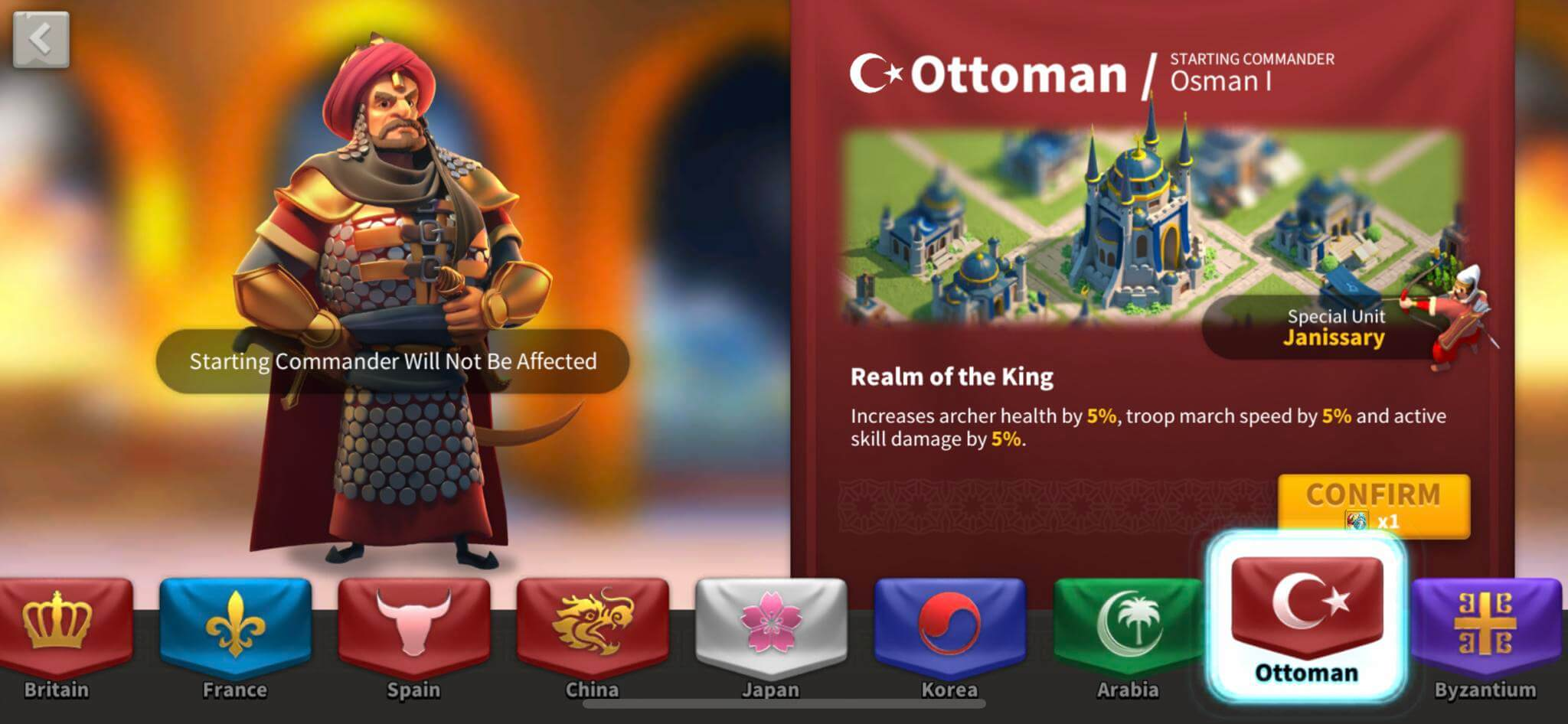 ottoman nation in rise of kingdoms