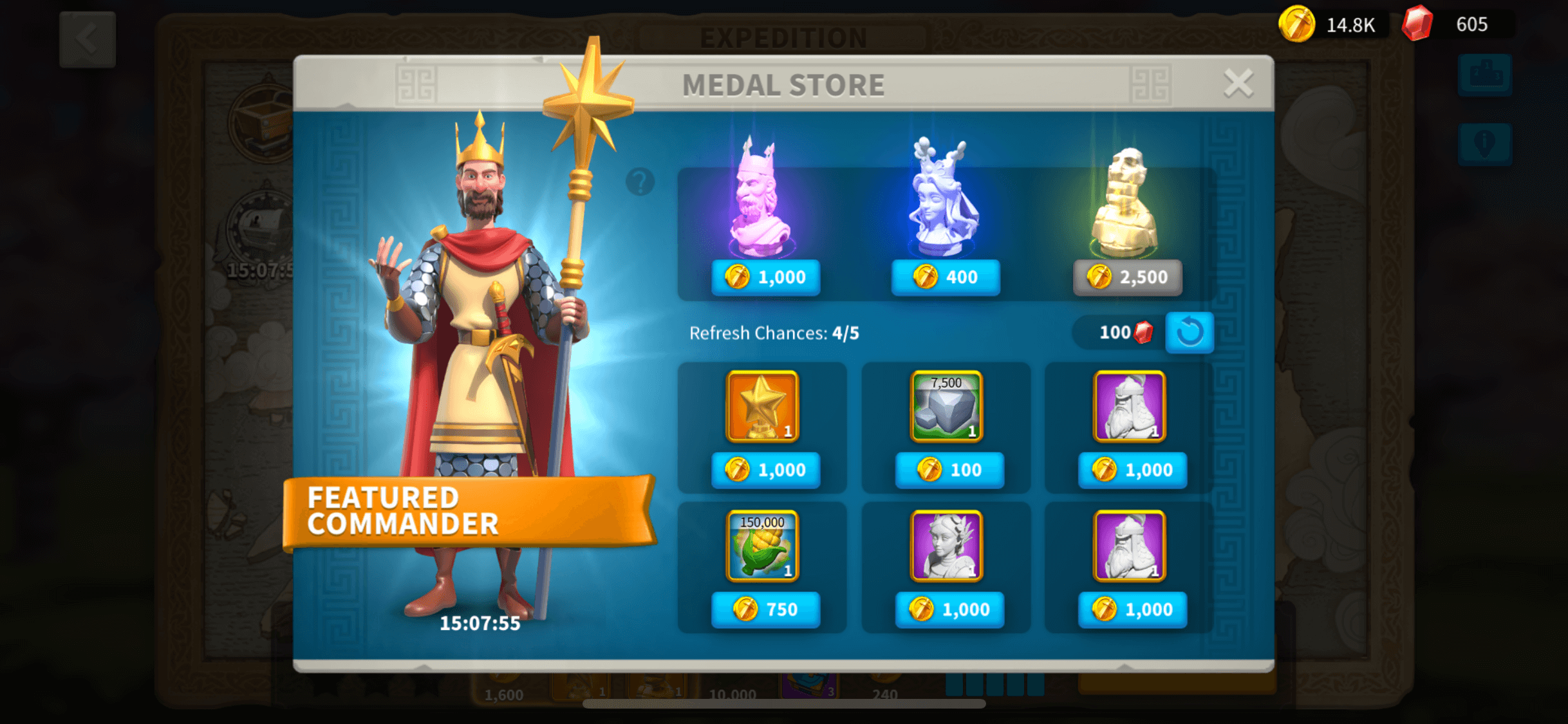 medal store rise of kingdoms