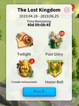 past glory menu