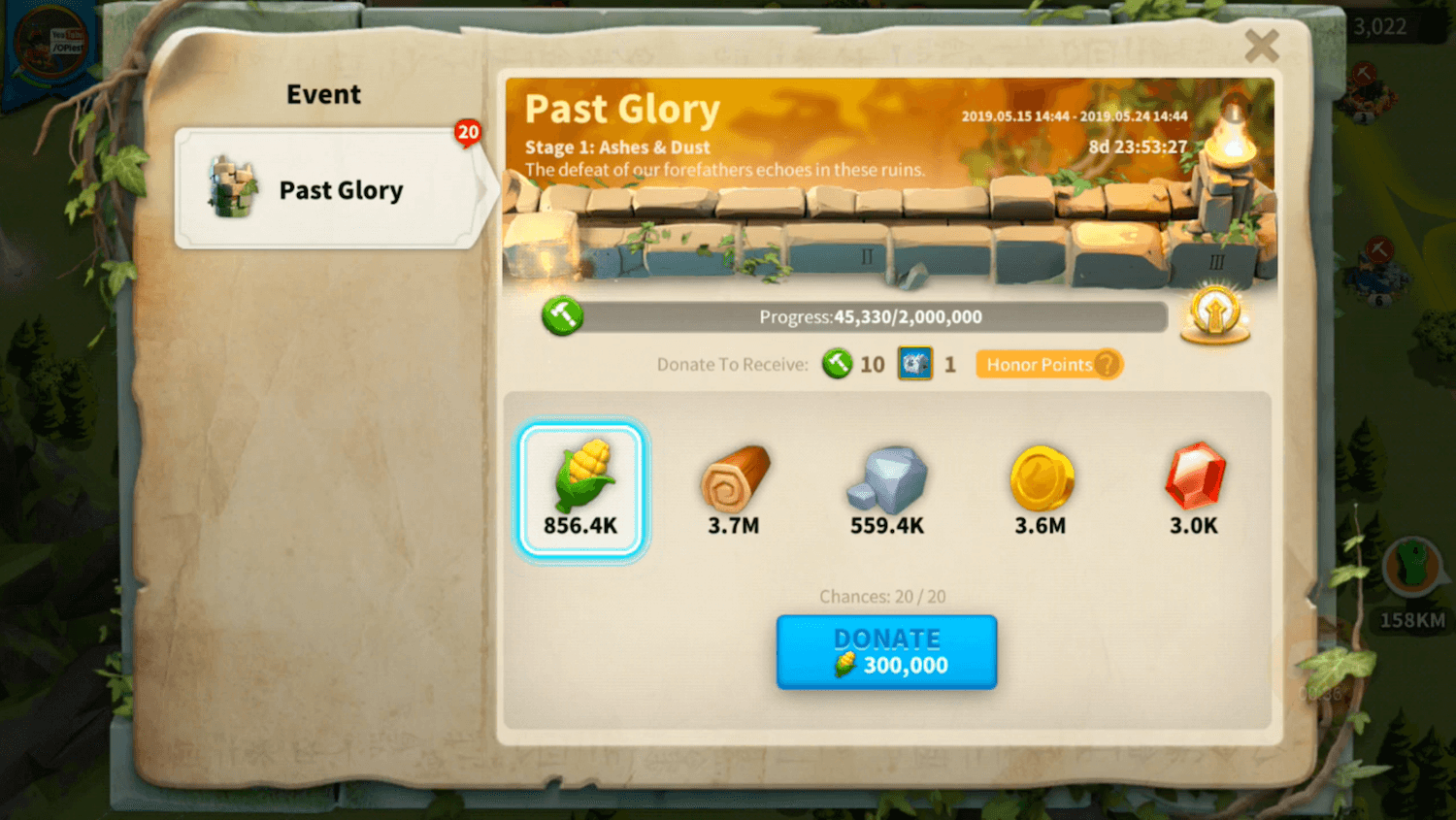 rise of kingdoms past glory stage 1