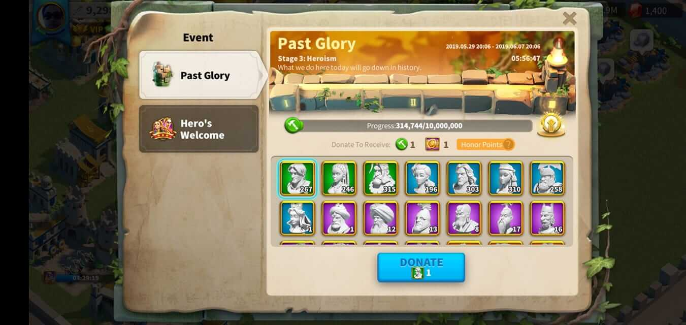 rise of kingdoms past glory stage 3