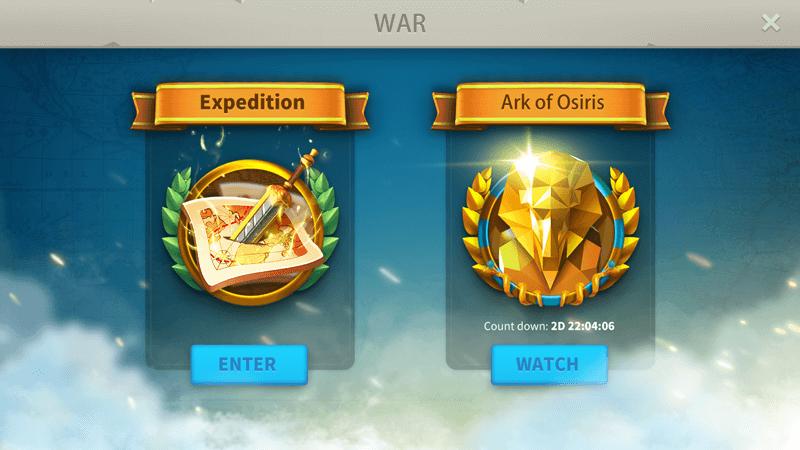 ark of osiris main menu