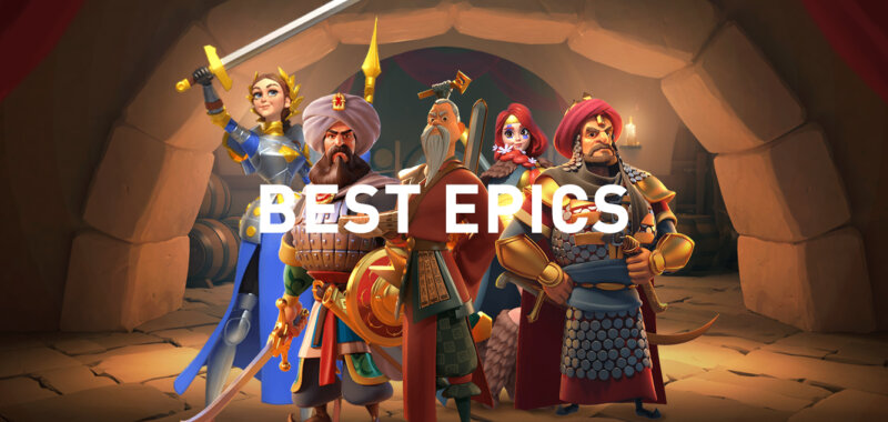 best epic commanders Rise of Kingdoms