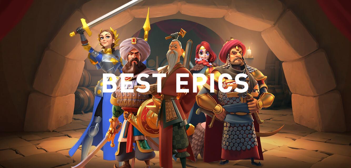best epic commanders Rise of Kingdoms