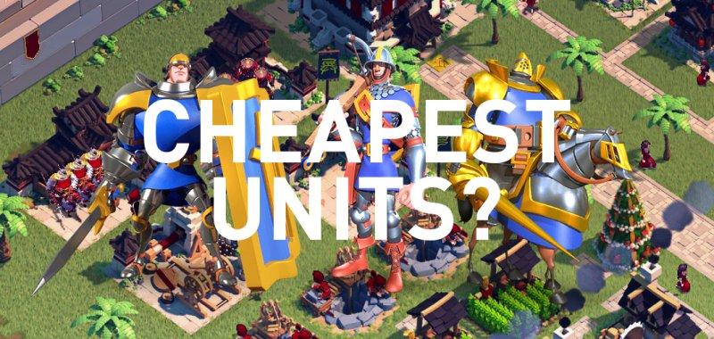 cheapest units rise of kingdoms
