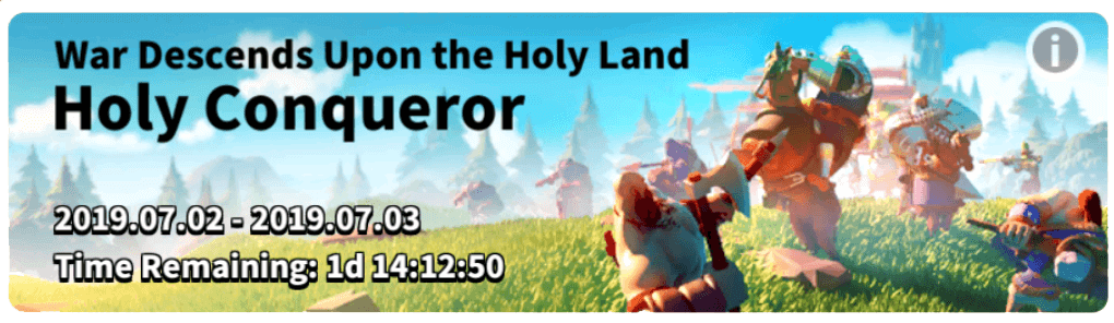 holy conqueror event rise of kingdoms