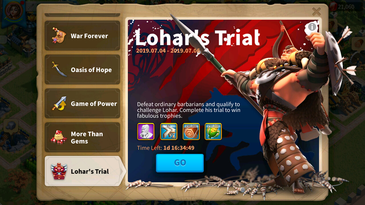 lohars trial event