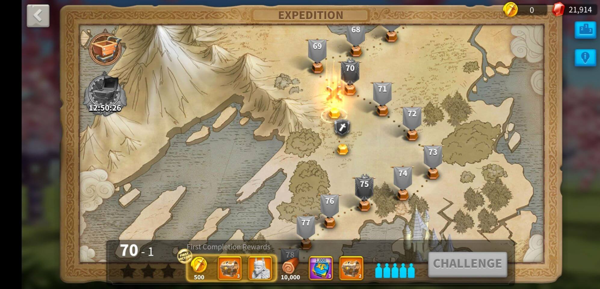 new expedition levels