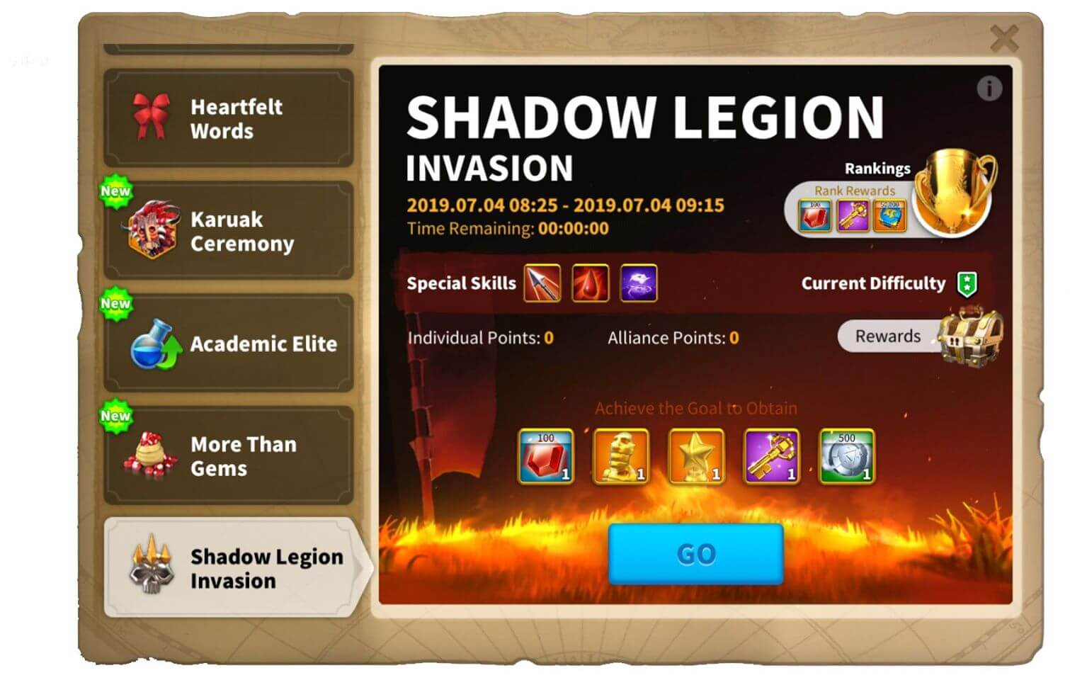 shadow legion event