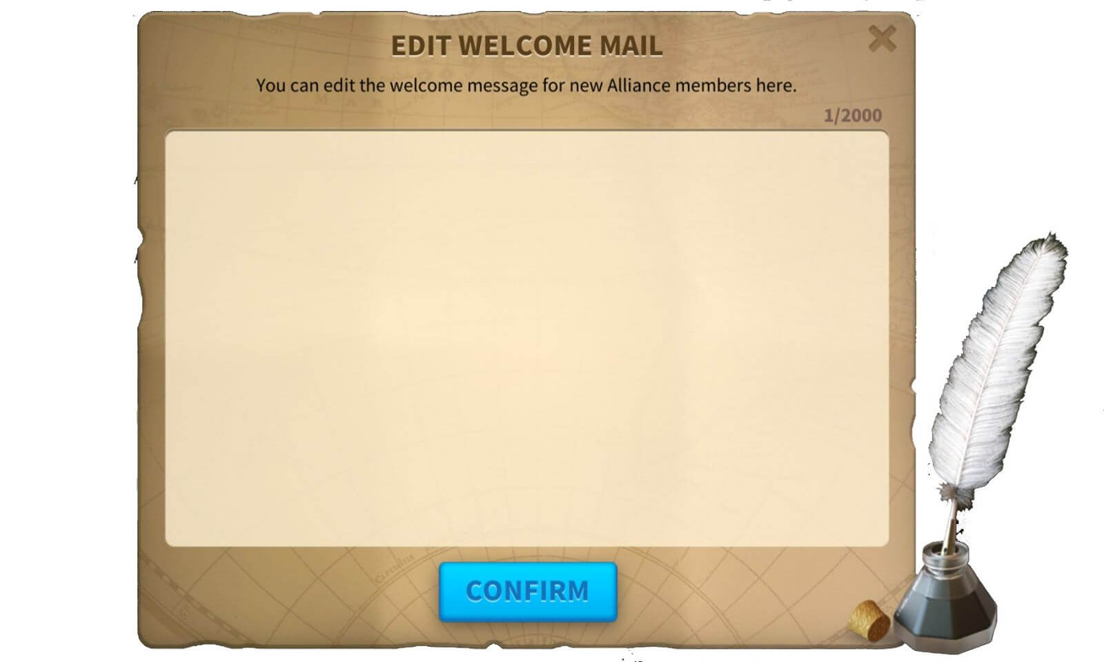 welcome mail alliance rise of kingdoms