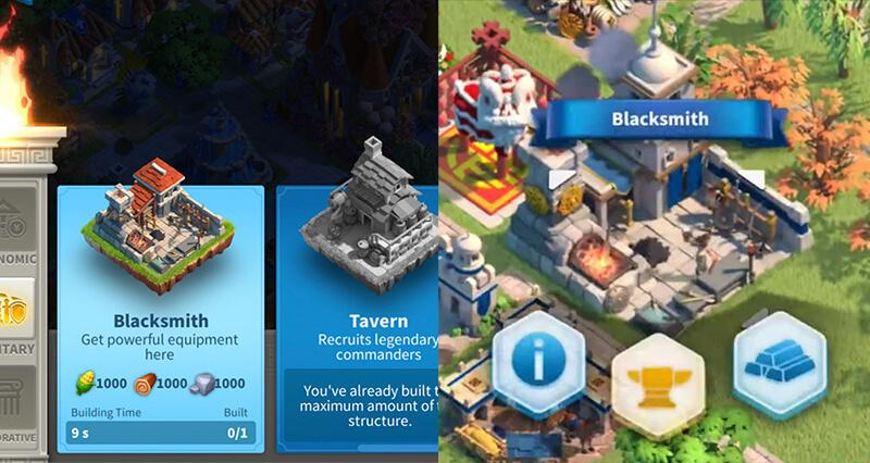 blacksmith rise of kingdoms