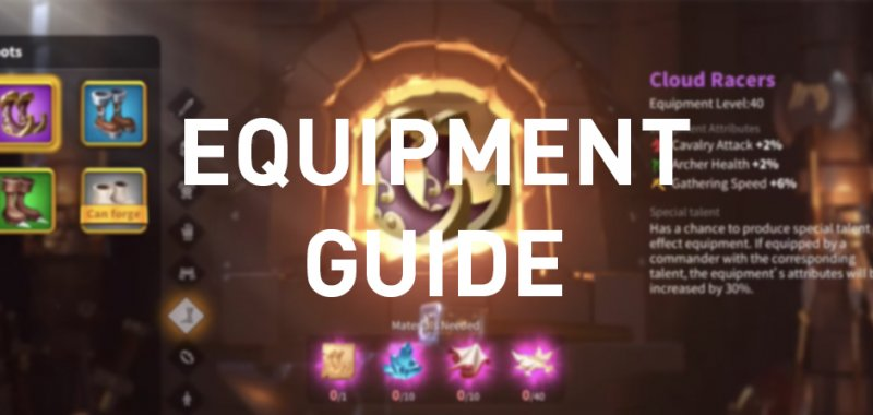 rise of kingdoms equipment guide