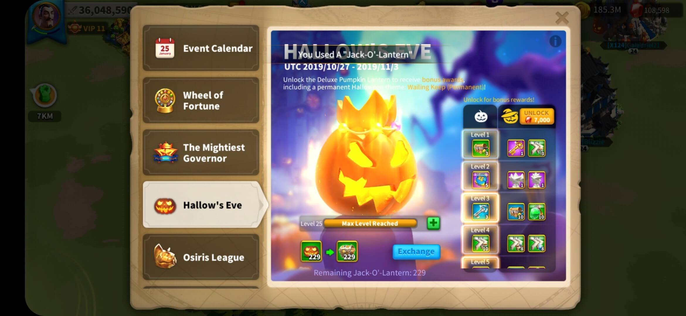 Recharge Event (Hallow's Eve)