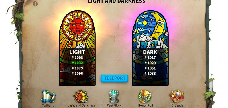 Light and Darkness event