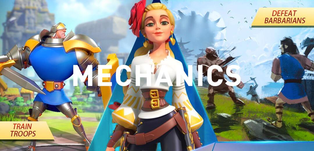 rise of kingdoms mechanics