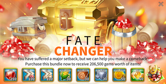 fate changer bundle Rise of Kingdoms