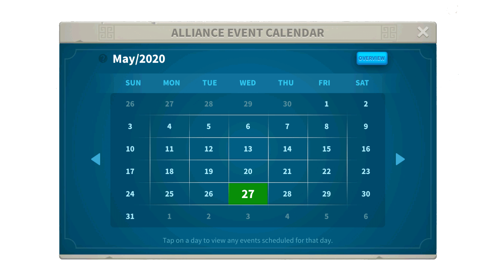 Alliance Event Calendar