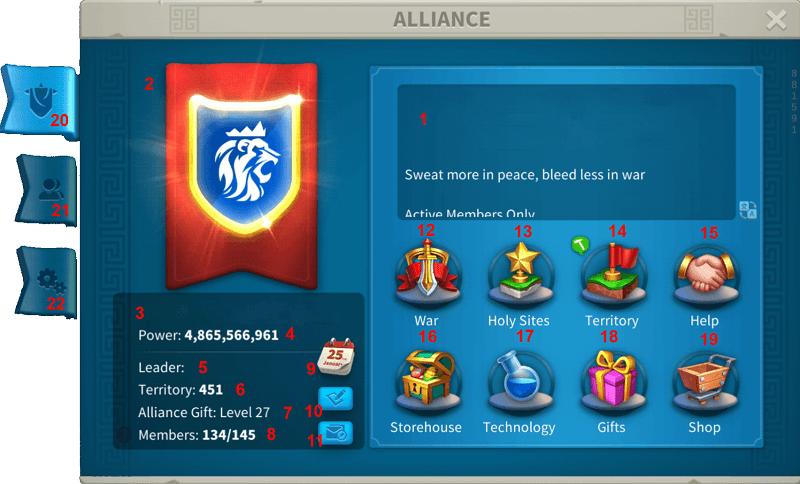 Rise of Kingdoms Alliance Profile