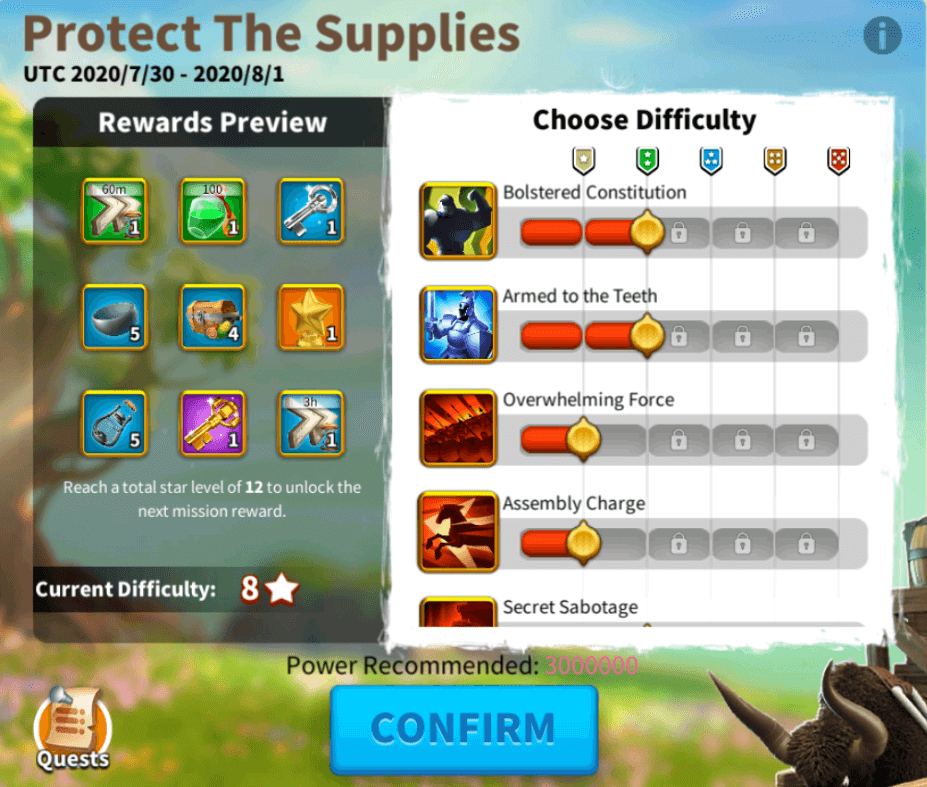 protect the supplies