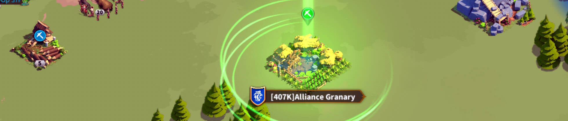 farming within alliance territory