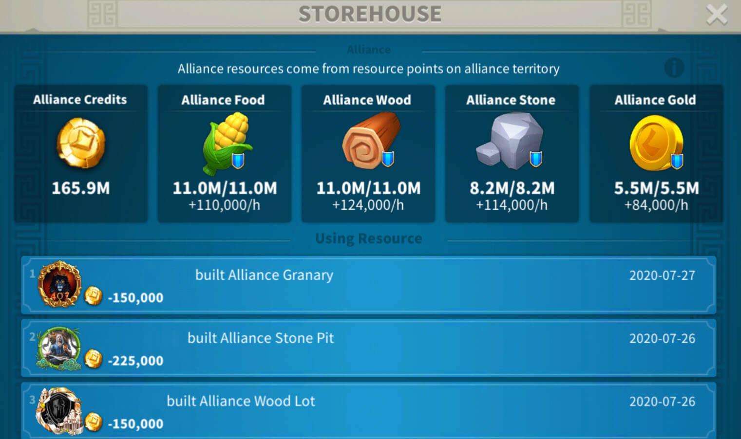 alliance storehouse