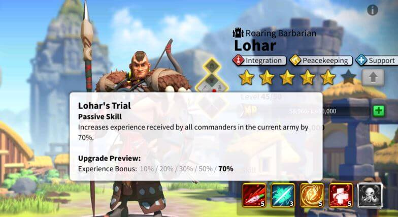 Lohar is perfect for farming EXP