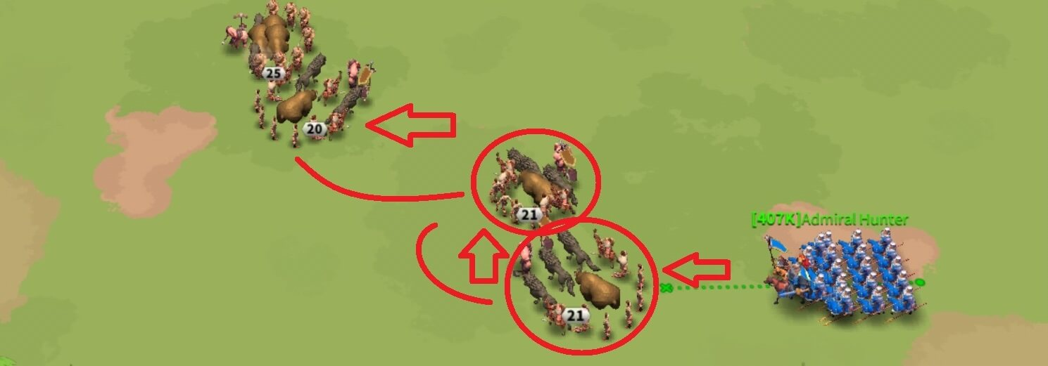 how to chain barbarians in Rise of Kingdoms