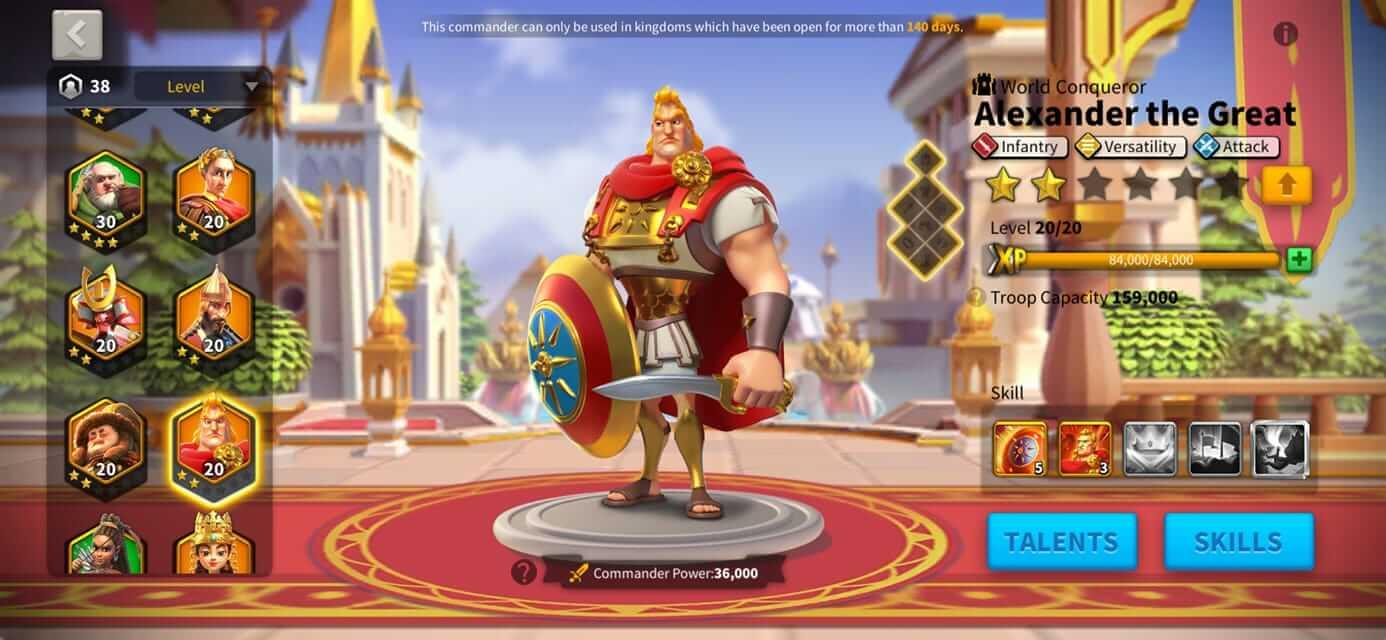 Rise of Kingdoms commander alexander