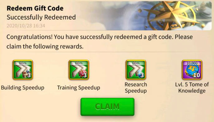 Rise of Kingdoms giftcode