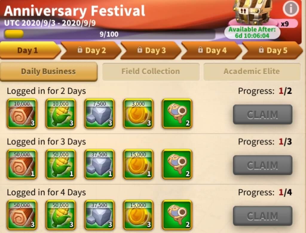 Rise of Kingdoms Anniversary Festival