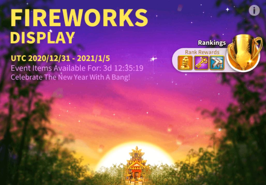 fireworks display event Rise of Kingdoms
