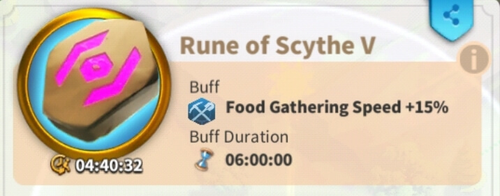 rune that increases gathering speed