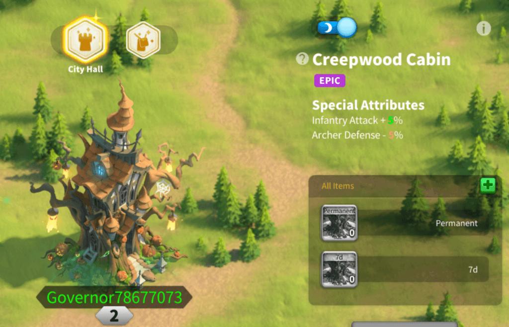 creepwood cabin skin