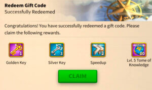 Rise of Kingdoms code redemption