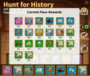 Hunt for History Event Rewards