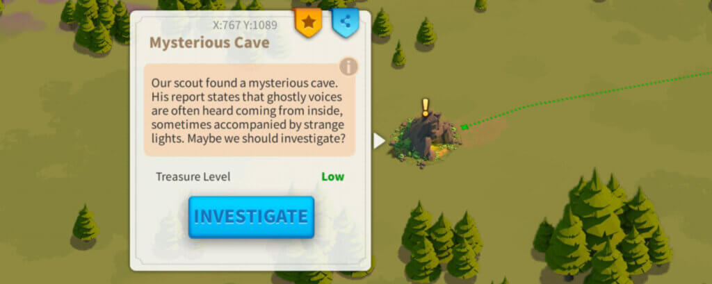 Rise of Kingdoms mysterious cave