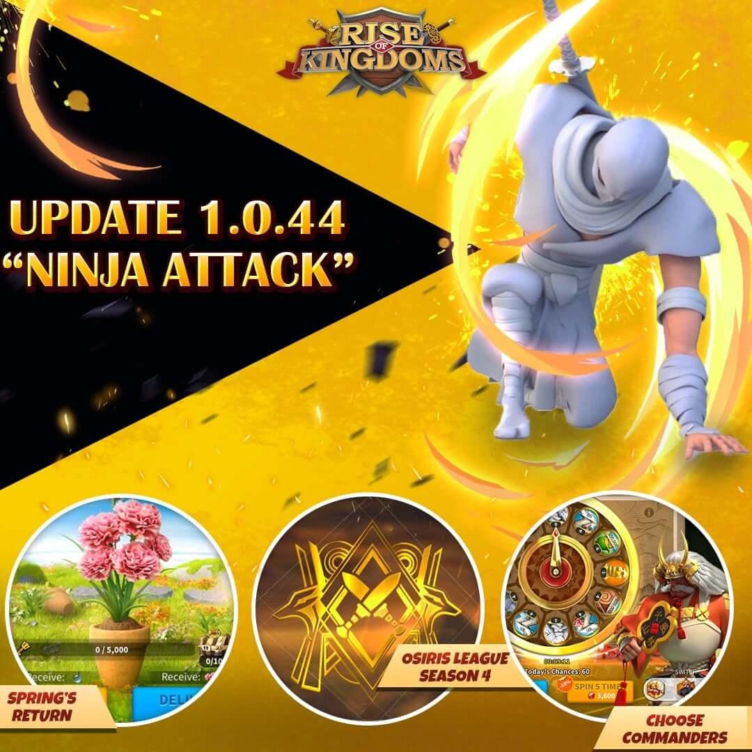 Rise of Kingdoms Update 1.0.44 Ninja Attack