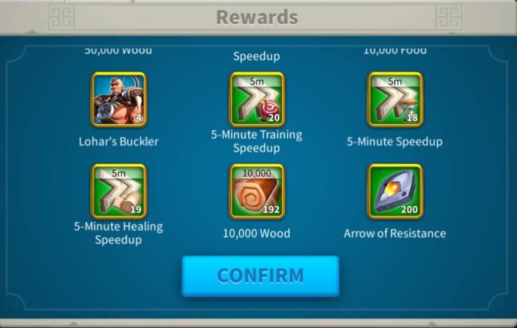 Lohar's Trial Rewards