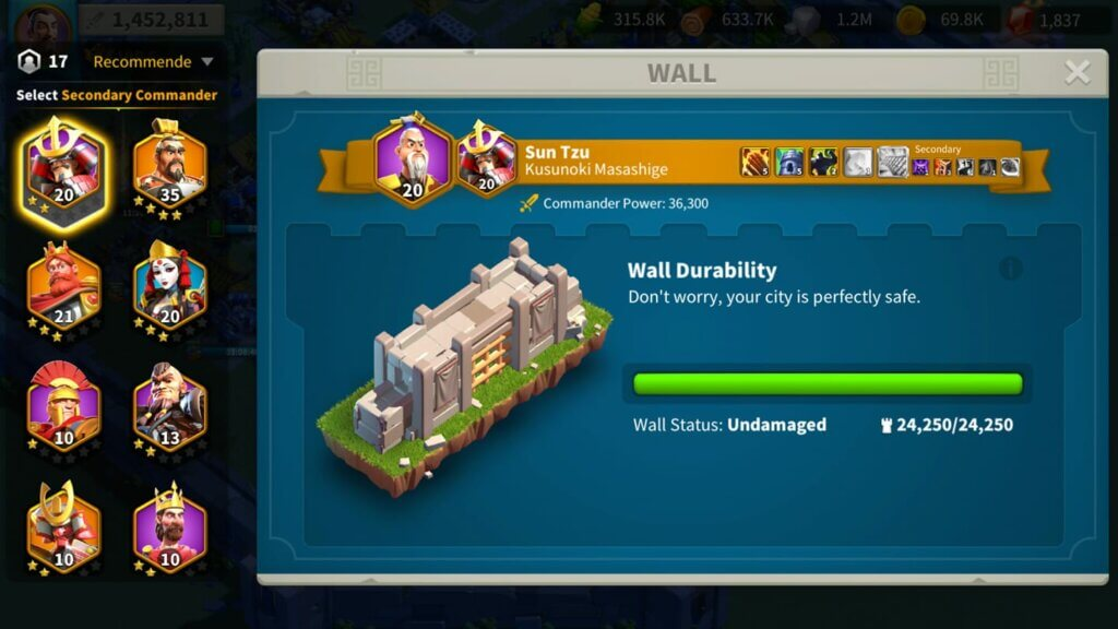 defending wall